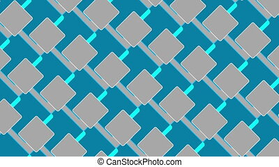 abstract background, squares, loop