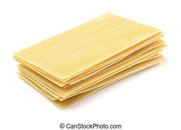 Lasagna sheets - Lasagna pasta sheets isolated on white