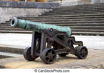 Cannon in Blenheim Palace, UK - Field artillery in Blenheim...