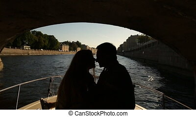 couple on a walk along the river