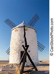 Windmill at Consuegra, La Mancha, Spain - Preserved historic...