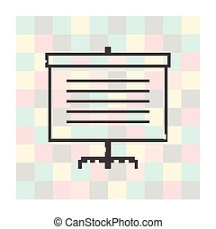 Vector pixel icon screen for presentations