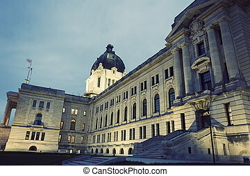 Saskatchewan Legislative Building in Regina, Saskatchewan,...
