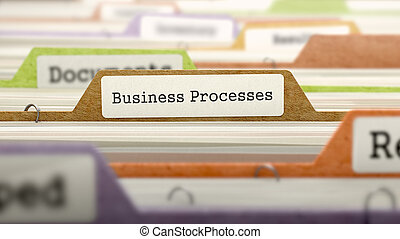Business Processes Concept. Folders in Catalog. - Business...