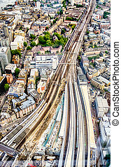 London Bridge Station - Aerial View of the London Bridge...