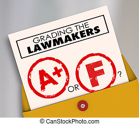 Grading the Lawmakers A or F Elected Officials - Grading the...