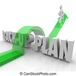 Back Up Plan Running Person Contingency Change Adapt -...