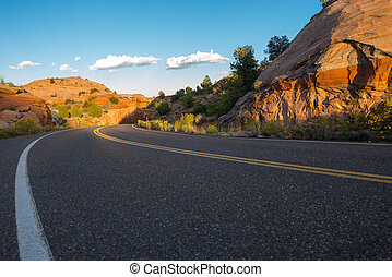 Utah Highway 12 Million Dollar Road low angle - Scenic Byway...