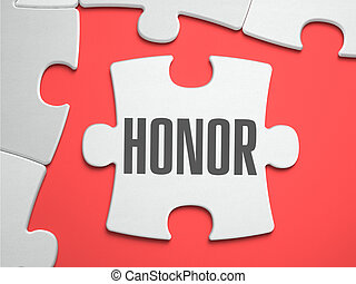 Honor - Puzzle on the Place of Missing Pieces - Honor - Text...