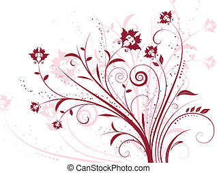 floral background - Decorative floral background