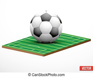 Symbol of a football or soccer game and field - Symbol of a...