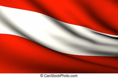 Flying Flag of Austria | All Countries Collection |