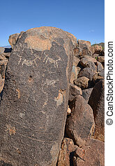petroglyph carvings from Hohokam prehistoric people
