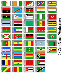 african flags set - complete set of flags of african...