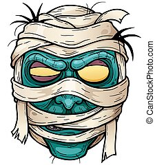 Mummy - illustration of Cartoon mummy face