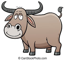 Buffalo - illustration of Cartoon Buffalo