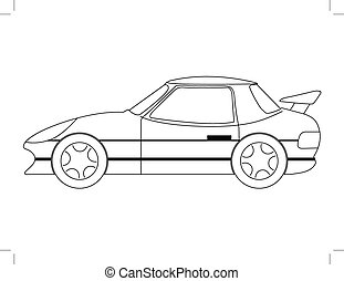 sport car - outline illustration of sport car
