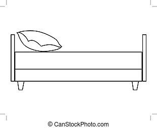 Dog Bed Outline