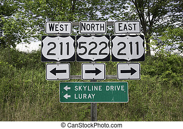 Road signs in Virginia - Road signs in Sperryville, Virginia...