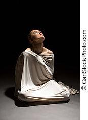 emoción, Destino, concepto, cara, humildad,  expresses, niña