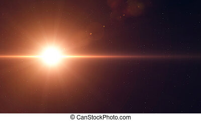 Sunflafe beautiful background in deep space. Elements of...