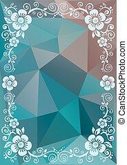 blue floral border
