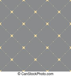 Seamless pattern with hearts and stars.