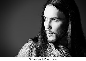 forgiveness - Religion and Christianity. Portrait of Jesus...