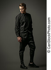 imposing guy - Full length portrait of a handsome male model...