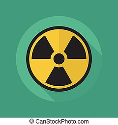 Medical Flat Icon Radiation symbol - Medical Flat Icon With...