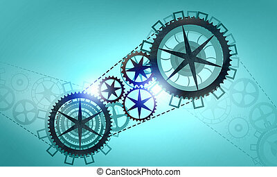 Metal gears and cogwheels - Mechanism of metal gears and...