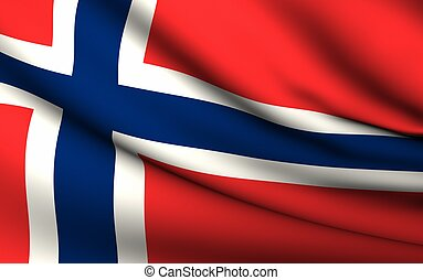 Flying Flag of Norway | All Countries Collection |