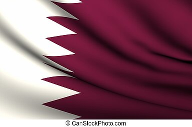 Flying Flag of Qatar | All Countries Collection |