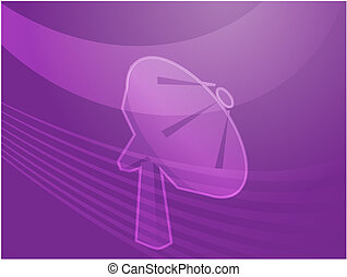 Satellite dish telecommunications illustration