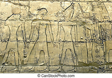 History of Egypt - Wall in the Karnak Temple Luxor, Egypt