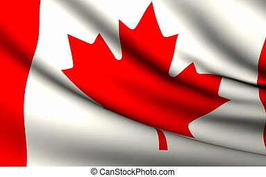 Flying Flag of Canada | All Countries Collection |