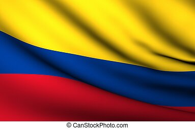 Flying Flag of Colombia | All Countries Collection |