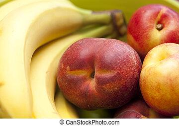 nectarine and banana