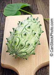 Cucumis metuliferus - Exotic fruit kiwano Horned melon -...