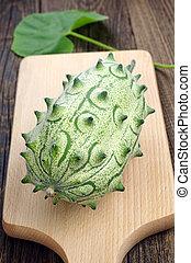 Cucumis metuliferus - Exotic fruit kiwano - Cucumis...
