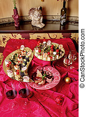 Delicious snacks - Delicious snacks for wine on the holiday...