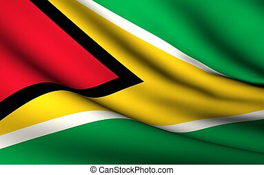 Flying Flag of Guyana | All Countries Collection |