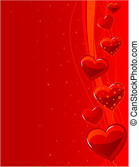 "Background ""Love\"" with lines and hearts - Grange vector..."