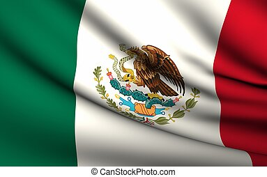 Flying Flag of Mexico | All Countries Collection |