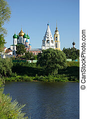 View of historical center in Kolomna from the river -...