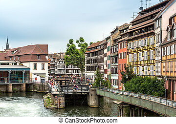 Strasbourg, France - Quaint timbered houses of Petite...