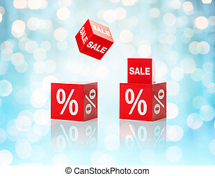 set of boxes with sale and percent sign - shopping, retail,...