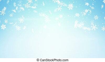 snowfall on light blue loop - snowfall on light blue...