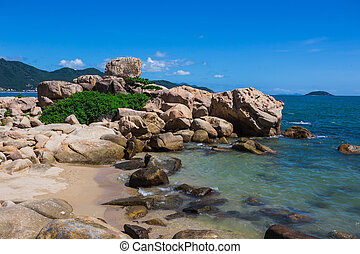 Hon Chong cape, popular tourist destinations at Nha Trang....