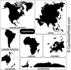 continents  - highly detailed continets